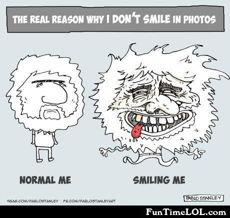 The real reason why I don't smile in photos