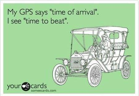 my gps says time of arrival