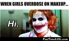 When girls overdose on makeup