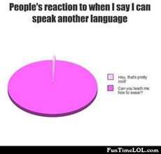People's reaction to when I say I can speak another language