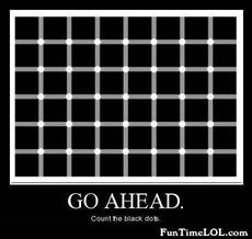 Go head. Count the black dots