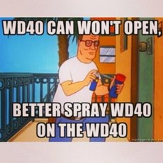 spray wd40 on the wd40