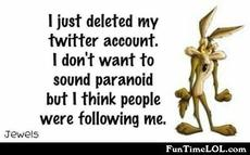I just deleted my twitter account