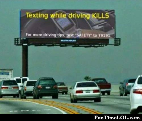 Texting while driving KILLS