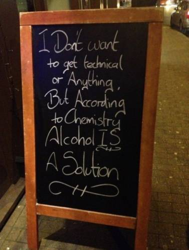 alcohol is a solution