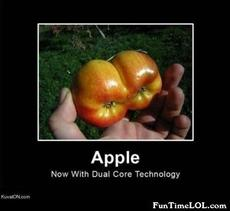 Apple - Now with dual core technology