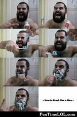 How to brush like a man