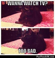 Wanna watch tv? Too bad