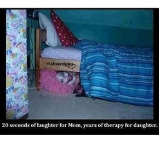 20 seconds of laughter for mom, years of therapy for daughter