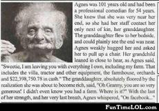 Agnes was 101 years old