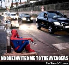 No one invited me to the avengers