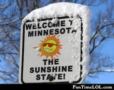 welcome to minnesota the sunshine state