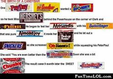 the birth of a candybar