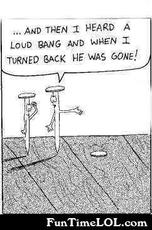 and then i heard a loud bang and he was gone